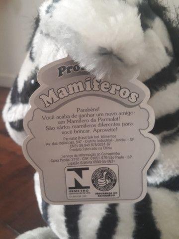 Pelúcia Zebra - Coleção Mamíferos da Parmalat - Foto 2