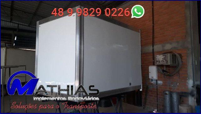 Baú refrigerado pra HR OU kia Bongo 2.800mm Mathias implementos - Foto 3