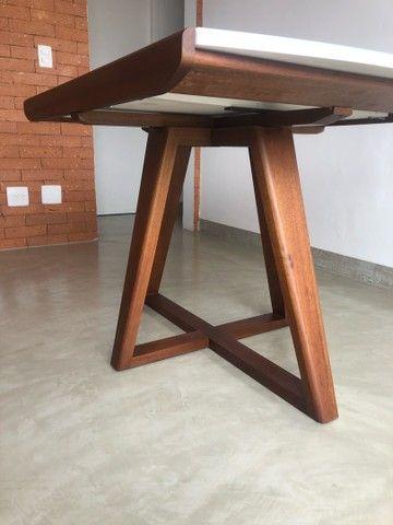 Linda mesa de jantar moderna expansível - Nova!! - Foto 5