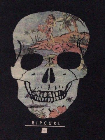 camiseta Ripcurl preta Skeleton - Foto 4