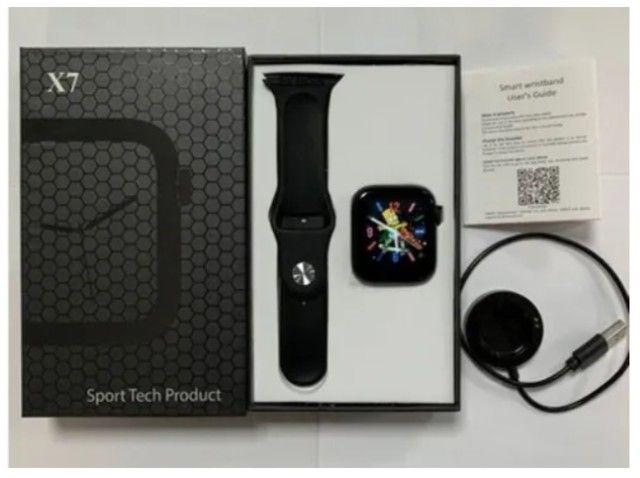 Smartwatch X7 Atualizado Troca Foto Ligações Notificações - Foto 3
