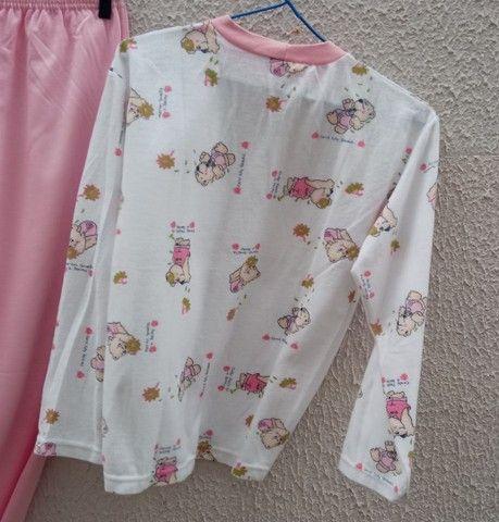 Pijama feminino peluciado novo Tam 14 - Foto 3