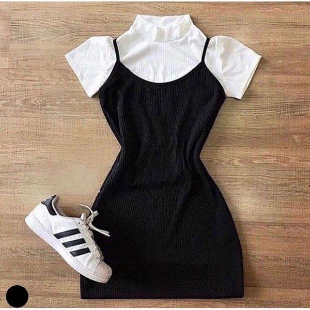 Vestido, moda gringa, vestido canelado