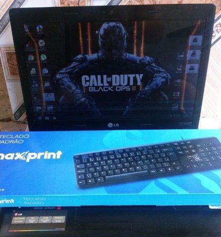 Notebook lg 3gb ddr3 320gb hd apenas teclado ruim, mas vai um usb - Foto 2