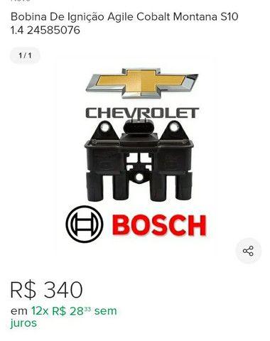 Bobina de ignição 4 pinos Mercedes classe A 160.  Bobina Bosch Montana, cobalt etc. - Foto 2