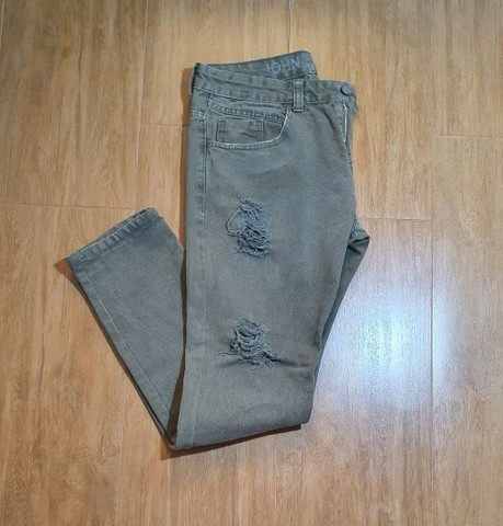 Calça jeans verde John John  - Foto 2