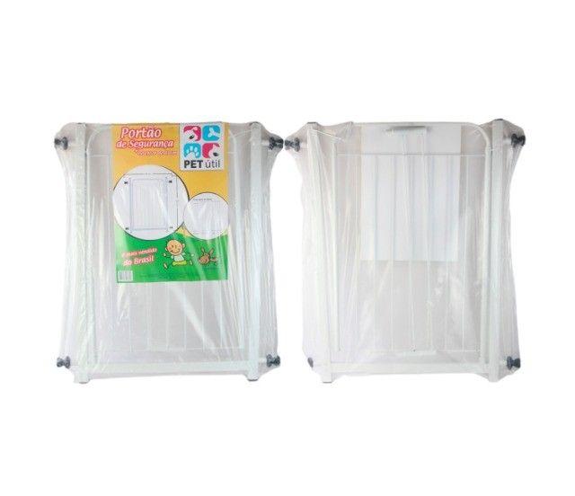 Portão Grade Proteção Pet Útil Branco 69 + 10 cm de extensor p/ Criança e Cães. Valor 120