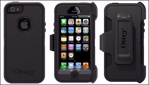 Capa Case Defender Iphone 5 E 5s Preta Original Otterbox