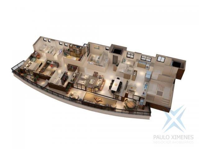 Apartamento com 4 dormitórios à venda, 219 m² por r$ 1.844.900 - aldeota - fortaleza/ce - Foto 3