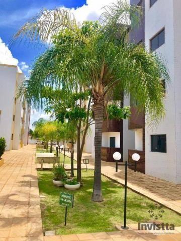 Apartamento com 3 quartos para alugar, 66 m² por r$ 950,00/mês - plano diretor norte - pal - Foto 16