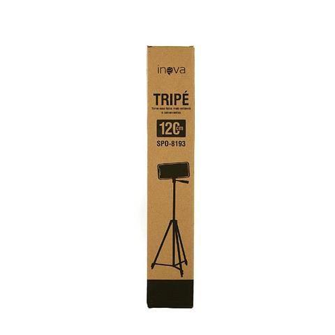 Tripé Universal Para Câmeras E Celulares 120cm Profissional SPO-8193 - Inova - Foto 4