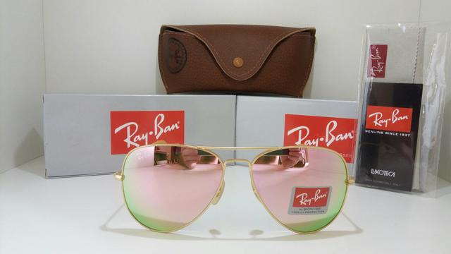 8b5a783acde30 Óculos de sol feminino aviador rosa espelhado - Bijouterias ...