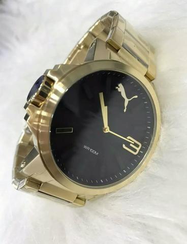 386299ff155 Relógio Puma Dourado - Bijouterias