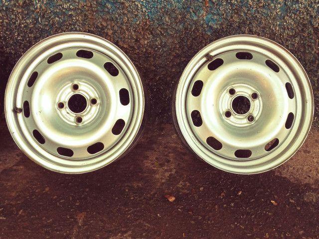 Rodas ferro aro 15 (SÓ VENDA) - Foto 4