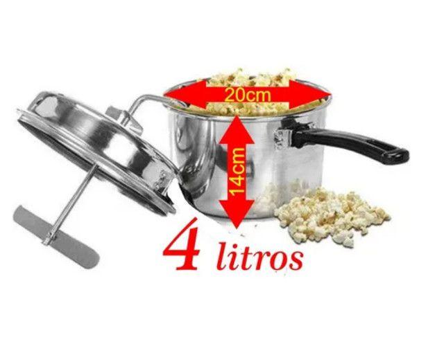 Super Kit Pipoqueira + Cuscuzeira em Alumínio Marca Fênis Feito no ES - Foto 4
