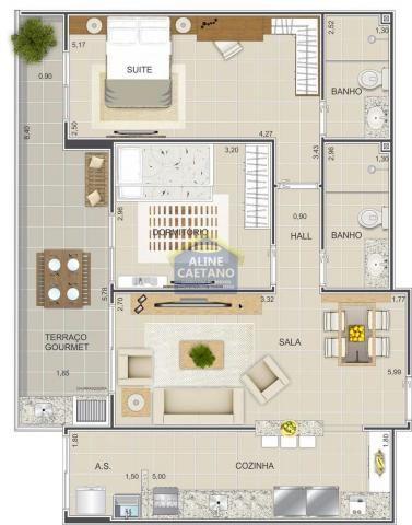 Apartamento à venda com 2 dormitórios em Guilhermina, Praia grande cod:JG07477 - Foto 9