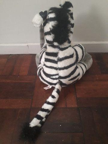 Pelúcia Zebra - Coleção Mamíferos da Parmalat - Foto 4