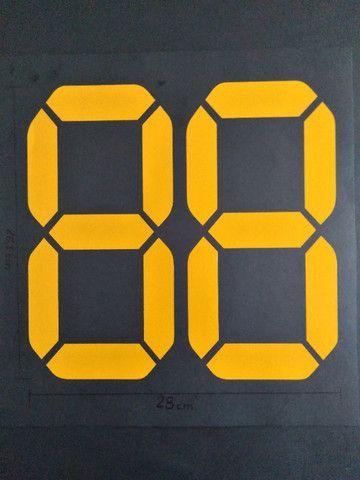 Números digitais para identificação do ano do veículo - Foto 2