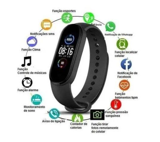 M5 Smartband Bluetooth 4.2 Com Monitor De Pressão Sanguínea E Frequência Cardíaca - Foto 3