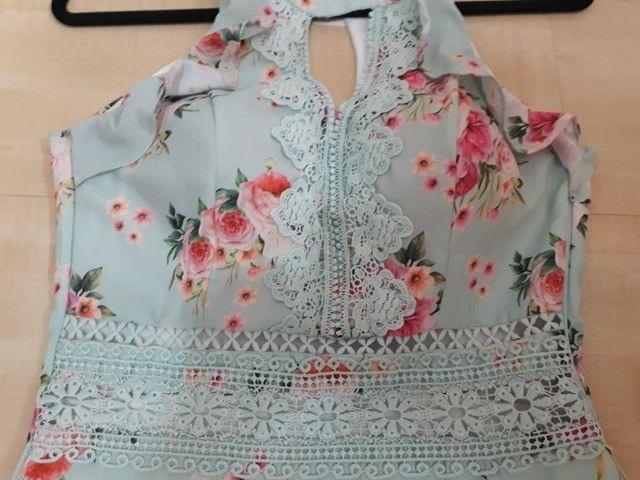 Vestido Novo Com Etiquetas,da Linny Fashion Tam.m Com Bojo. - Foto 4