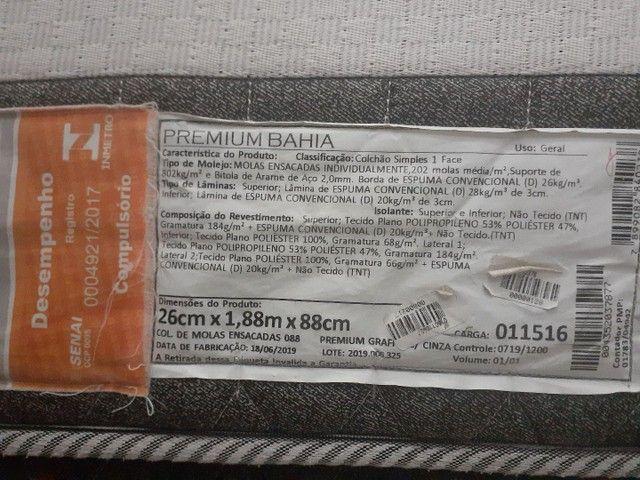 Cama box solteiro 450$ novíssima, molas ensacadas!  - Foto 2