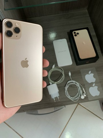 (Garantia Apple) IPHONE 11 PRO MAX 64GB GOLD TODOS OS ACESSÓRIOS