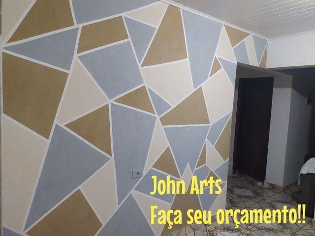 Pinturas geométricas em parede  - Foto 3