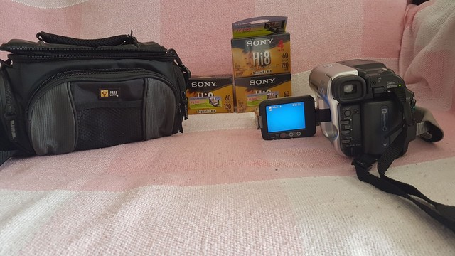 câmera de vídeo analógica
