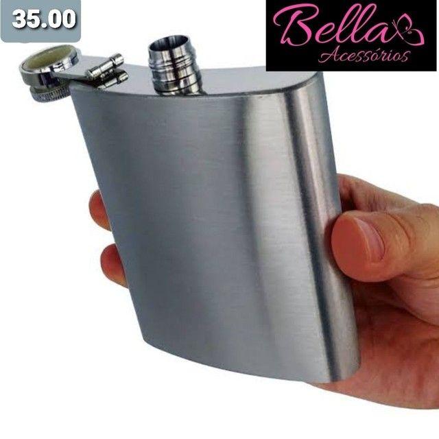 Cantil Bebidas Presenteavel  inox com estampa ou sem - Foto 3