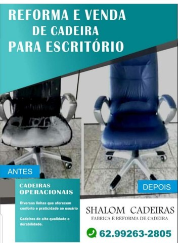 Cadeiras para escritório e Reformas de cadeiras
