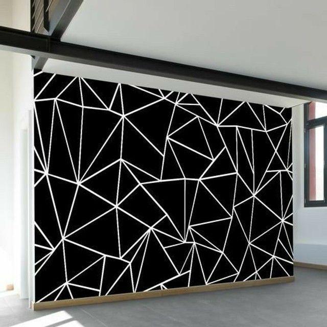 Pinturas geométricas em parede  - Foto 5
