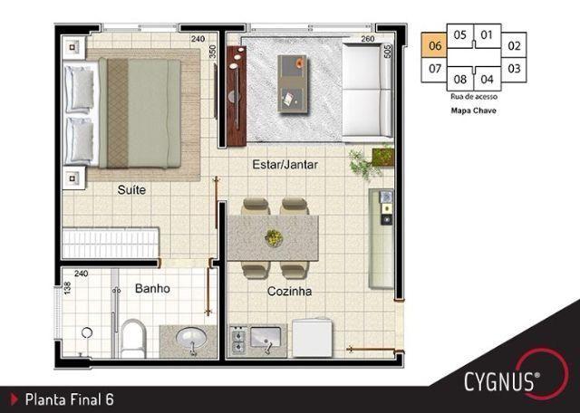 Oportunidade apartamento 1 quarto Samambaia Sul