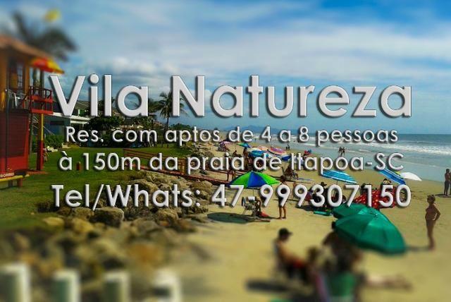 Apto temp. Itapoá, p/6 à 150m da praia, otima localização