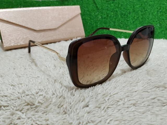 f2c7e583120b7 Óculos Chloé feminino marrom grande - Bijouterias, relógios e ...