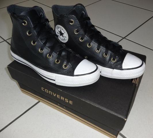 185a7432b4 Tênis All Star Cano Alto Converse Preto Usado - Roupas e calçados ...