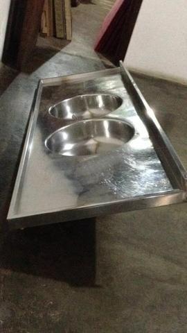 Troco pia de cozinha por frete - Foto 2