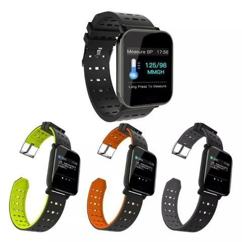 Relógio Smartwatch Medição Ky109 Bluetooth Ip67 Cal Batimentos Pressão - Mega Infotech - Foto 3