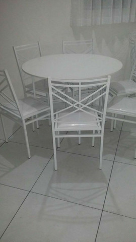 Conjunto Buffet Mesa c/4 Cadeiras - Fabrica - Foto 4