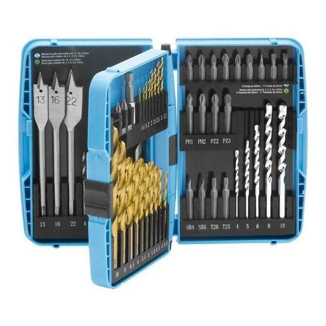 Kits de Acessórios para Furadeiras e Parafusadeiras - Kits com 27, 52 e 75 Peças - Gamma - Foto 4