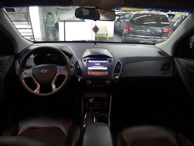 Hyundai IX35 GLS 2.0 16v Flex Autom Completo Couro DVD 2019 Preto - Foto 8