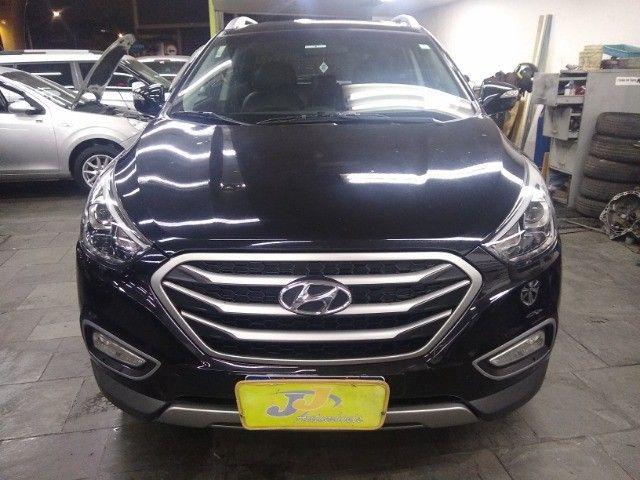 Hyundai IX35 GLS 2.0 16v Flex Autom Completo Couro DVD 2019 Preto - Foto 2