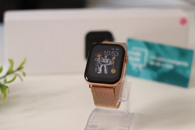 Relógio Inteligente Iwo FK78 Original Compatível com Android e iOS Rosê - Foto 3