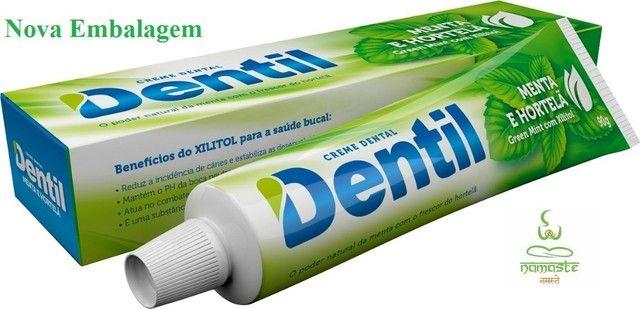 Pasta creme dental sem flúor dentil e com Xilitol (mais saúde) - Foto 3