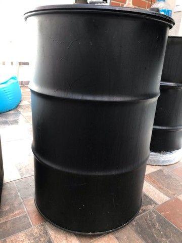 Tambor Oleo Preto 200 lts para Adega latão Ferro  - Foto 2