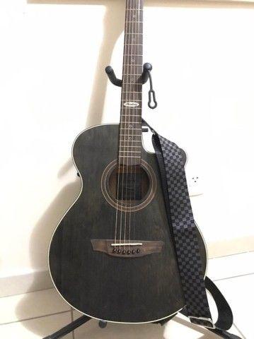 Violão Elétrico Aço Strinberg Black Series