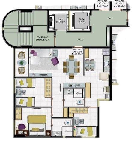 M&M-Oportunidade de 03 quartos na Madalena - Edf. Polaris - Últimas unidades - Foto 3