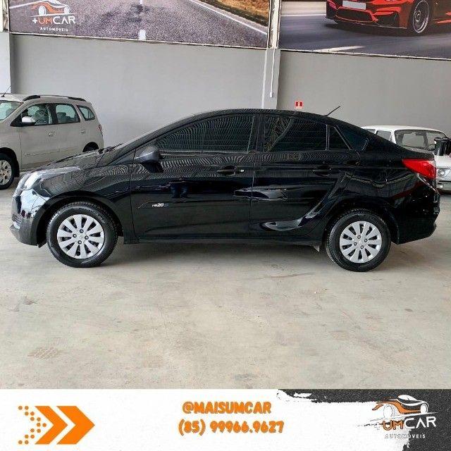 Hyundai HB20S - Unique - 1.0 -  2019 - 20.000Km - Preto - Foto 2