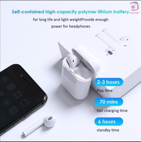 Fone de ouvido I12 para iPhone e Android  Bluetooth - Foto 6