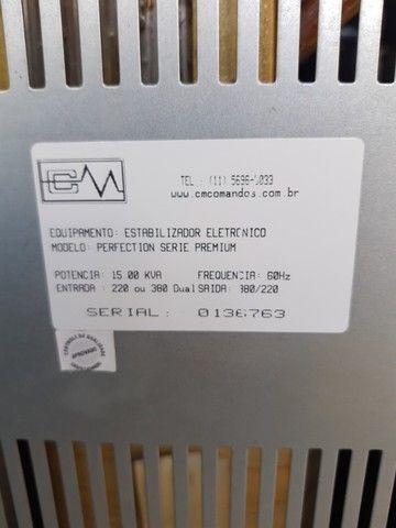 Estabilizador Eletronico CM Comandos 15 kva - Foto 4
