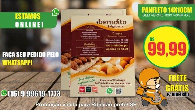 1000 Panfleto 14x10cm R$ 99,99 Entregamos em Ribeirão frete grátis